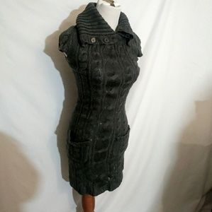 *First Look* Grey Sweater Dress WITH POCKETS